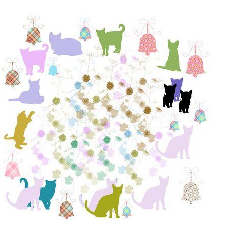 ネコと向日葵と鈴 .jpg
