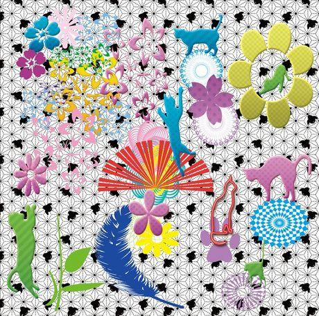 ネコと千鳥と花.jpg