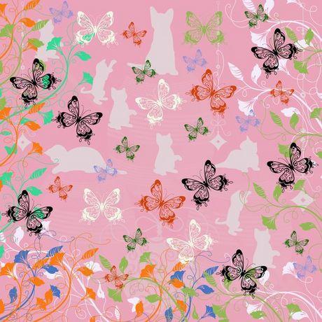ネコと蝶と花.jpg